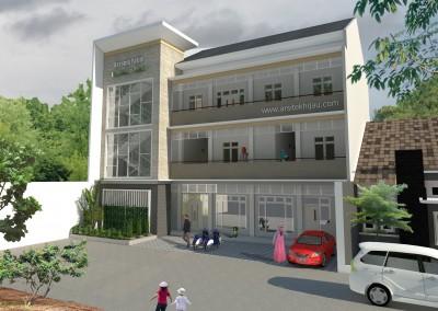 Desain Gedung Asrama Yatim 3 Lantai – Tambun