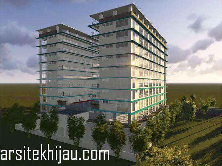 Desain Gedung Hotel 10 Lantai