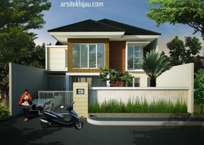 Desain Renovasi Rumah 1 Menjadi 2 Lantai Bpk. Arif di Rawamangun