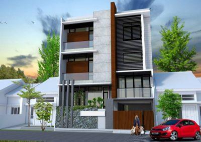 Desain Rumah 3 Lantai Bpk. Rukban Karawang