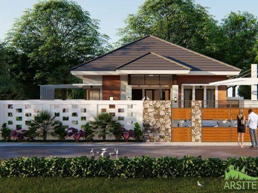 Desain Rumah Tropis 1 Lantai Bpk. Yusuf Karawang